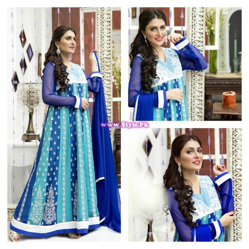 See Ayeza Khan presenting Amna Ismail's Chiffon Collection of 2015