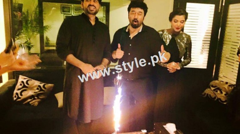 See Birthday Celebration of two stars Humayun Saeed and Yasir Nawaz