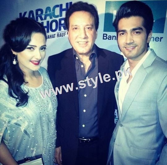 Celebrities on premier of Karachi se Lahore