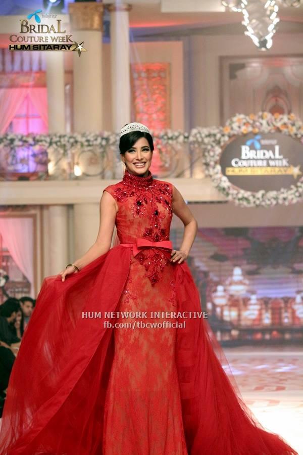 See Elegnat Pakistani celebrities of 2015 wearing bridal dresses