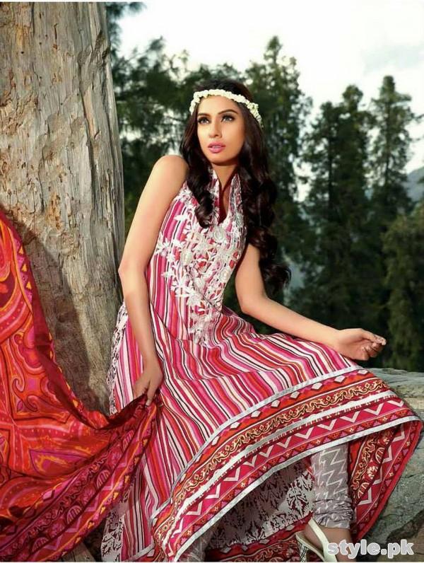 Farah Leghari Eid Dresses 2015 by Shariq Textiles 11