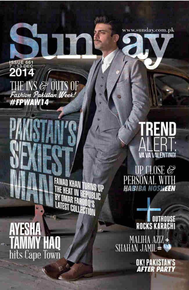 See Fawad Khan on cover of Indian magzines
