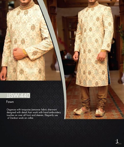 Junaid Jamshed Sherwani collection 2015 For Men001