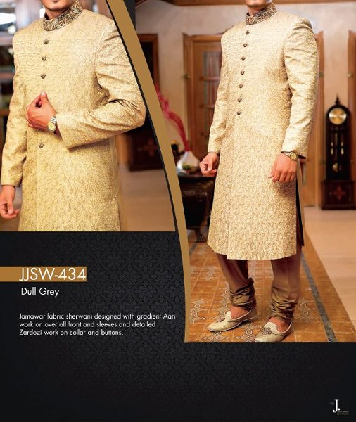 Junaid Jamshed Sherwani collection 2015 For Men009