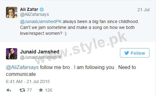 Junaid Jamshed and Ali Zafar are going to make a song for women