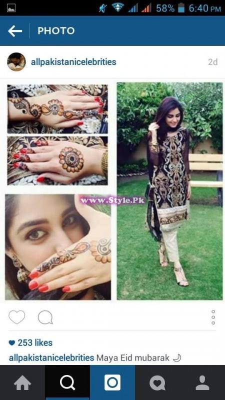 See Which Pakistani Celebrity applied best mehndi design on Eid-ul-Fitar 2015?