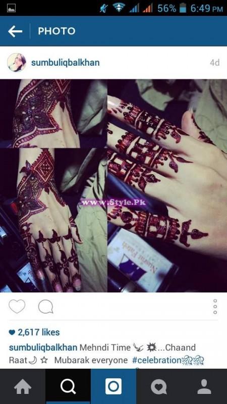 Which Pakistani Celebrity applied best mehndi design on Eid-ul-Fitar 2015?