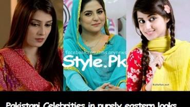 See Pakistani Celebrities in purely eastern looks
