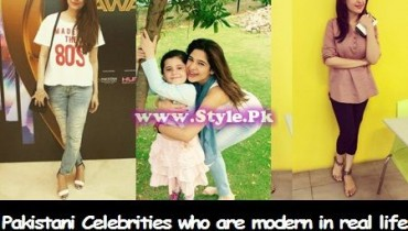 See Pakistani Celebrities who are modern in real life