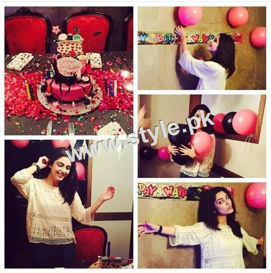 See Pictures of Birthday Celebration of Maya Ali