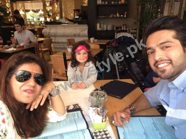 Pictures of Fahad Mustafa with his Family on Istanbul tour 2