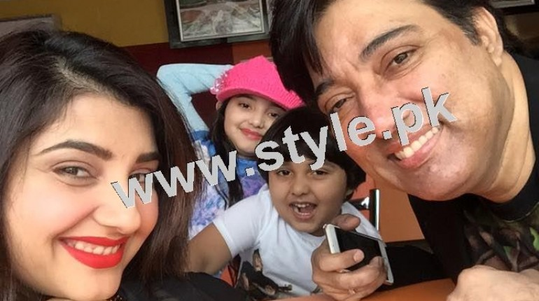 See Pictures of Javeria and Saud with Family in Paris