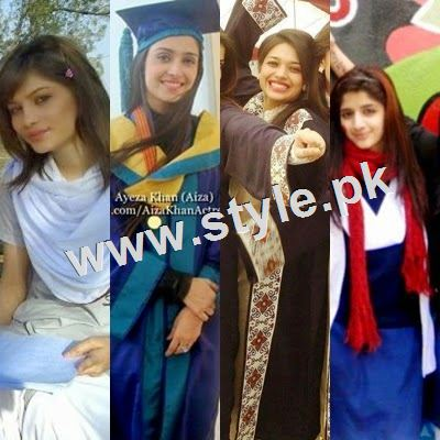 Pictures of Pakistani Celebrities during study days 1