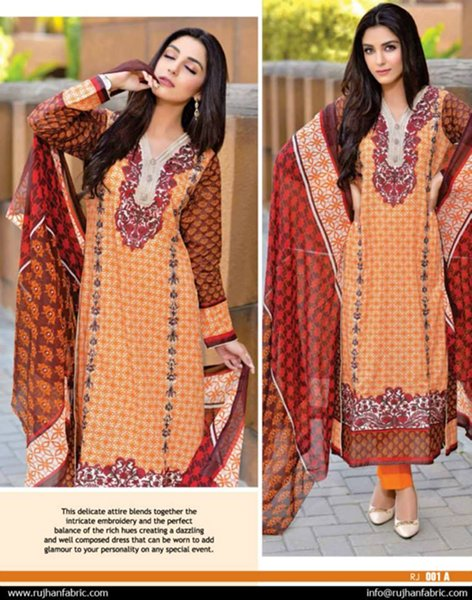 Rujhan Fabrics Eid Collection 2015 For Women001