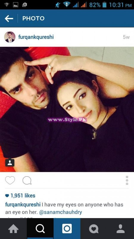 Sanam Chaudhry and Furqan Qureshi are mad in each other's love 3