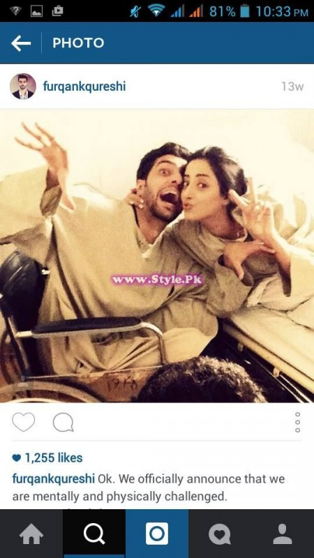 Sanam Chaudhry and Furqan Qureshi are mad in each other's love 5