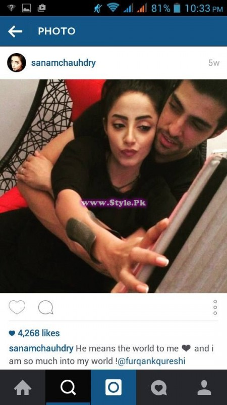 Sanam Chaudhry and Furqan Qureshi are mad in each other's love 6