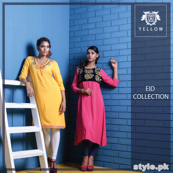 Yellow Eid-Ul-Fitr Collection 2015 For Men and Women 8