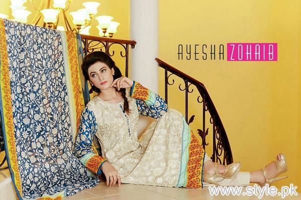 Ayesha Zohaib Linen Collection 2015 For Midsummer 11