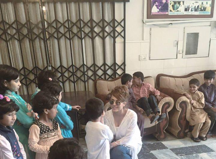 See Ayyan Ali visited Edhi foundation Islamabad
