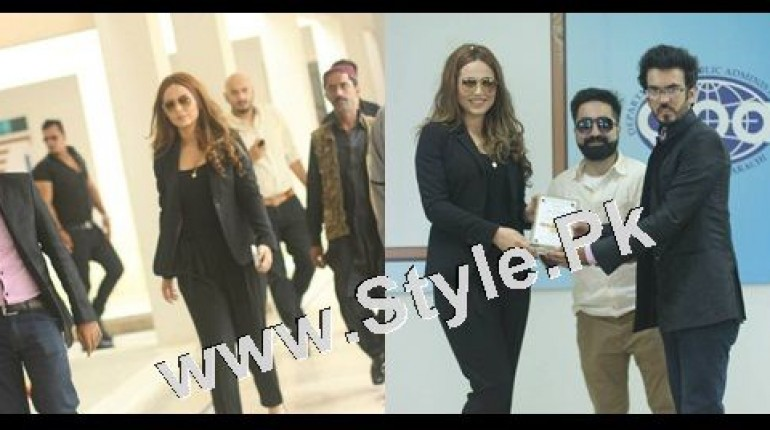 See Ayyan Ali visited University of Karachi as guest of Honour