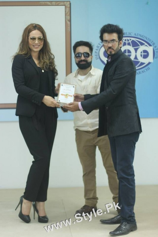 Ayyan Ali visited University of Karachi as guest of Honour (8)