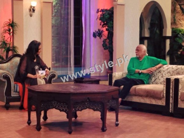 Bushra Ansari's first appearance as Morning show host on GEO TV (5)