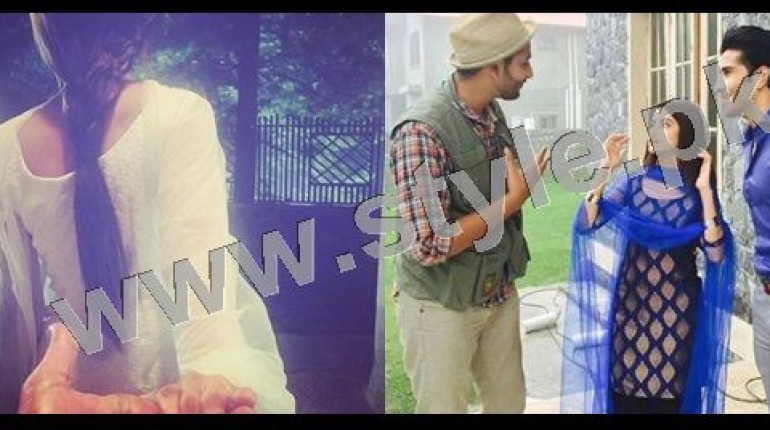 See Clicks of Sajal Ali and Feroze Khan during shooting of drama Gul-e-Rana
