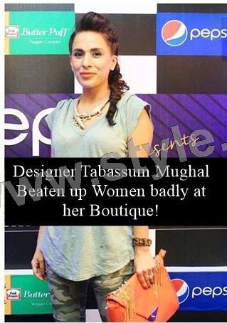 Designer Tabassum Mughal has beaten a woman with chairs on her Botique