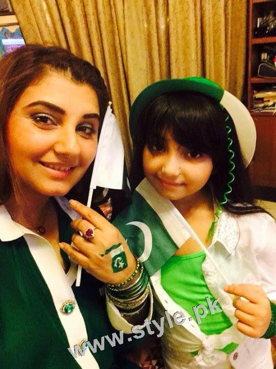 Javeria Saud goes green with her kids 4