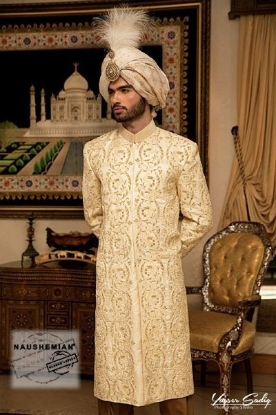 Naushemian By Nauman Arfeen Sherwani Collection 2015 For Men004