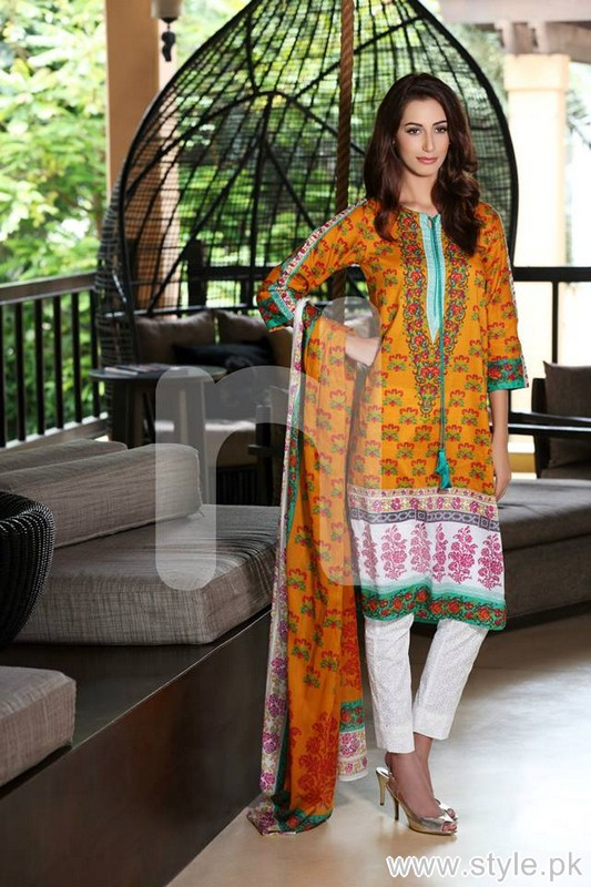 Nishat Linen Saavan Collection 2015 For Summer 6