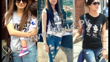 See Pakistani Celebrities who look good in Street Style Pants 2015