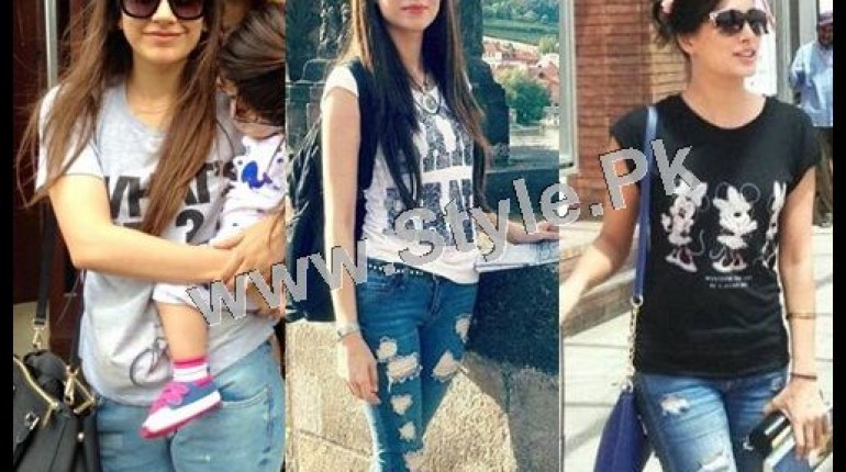 See Pakistani Celebrities who look good in Street Style Pants 2015