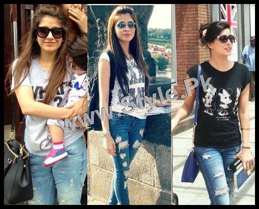 Pakistani Celebrities who look good in Street Style Pants 2015 (2)