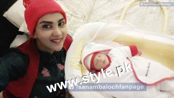 Pictures of Pakistani Celebrities with their newly born babies