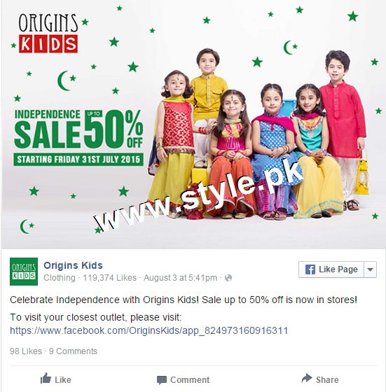 Promotional offers by Clothing brands on Independence Day, 2015 5