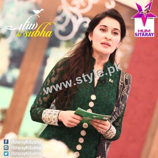 Shaista Lodhi's first appearance as a host after her arrest warrants (2)
