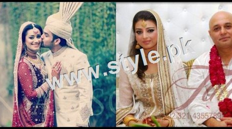 See Wedding Pictures of famous Pakistani Singers