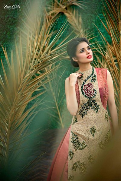 Black And White Couture Party Wear Collection 2015 For Women004
