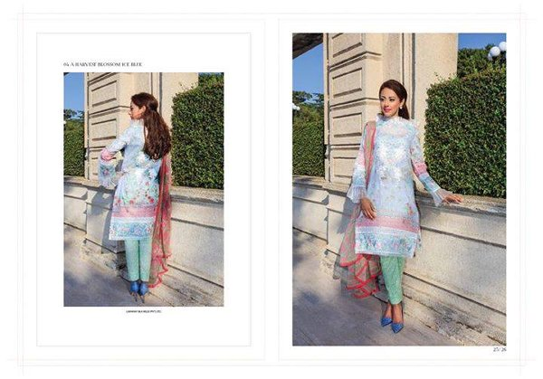 Farah Talib Aziz Midsummer Collection 2015 By Lakhany Silk Mills0012
