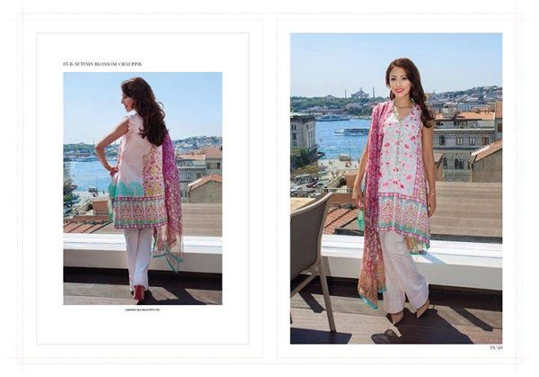 Farah Talib Aziz Midsummer Collection 2015 By Lakhany Silk Mills005