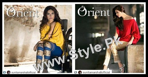 See Sunita Marshal's photoshoot for Orient Textile Mills
