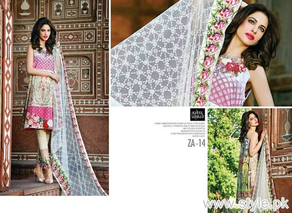 Zahra Ahmad Heritage Lawn Collection 2015 For Eid-ul-Azha 4