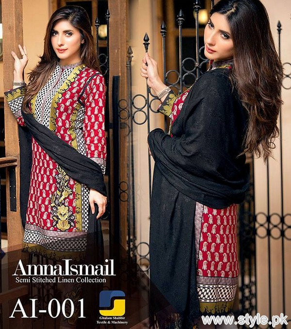 Amna Ismail Winter Dresses 2015 For Women 5