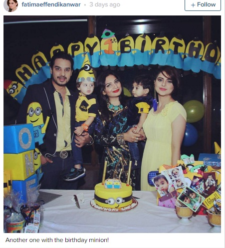 Fatima effendi and kanwar arsalan in birthday party