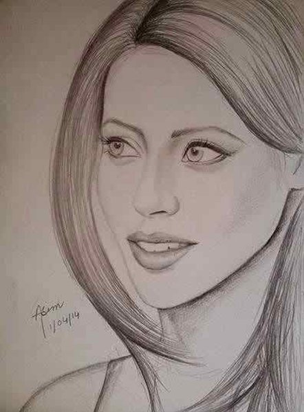 Pakistani Celebrities And Their Handmade Sketches004