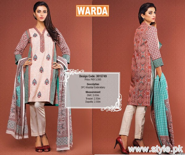 Warda Winter Dresses 2015 For Women 14