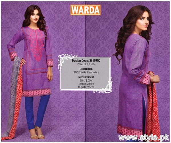 Warda Winter Dresses 2015 For Women 6