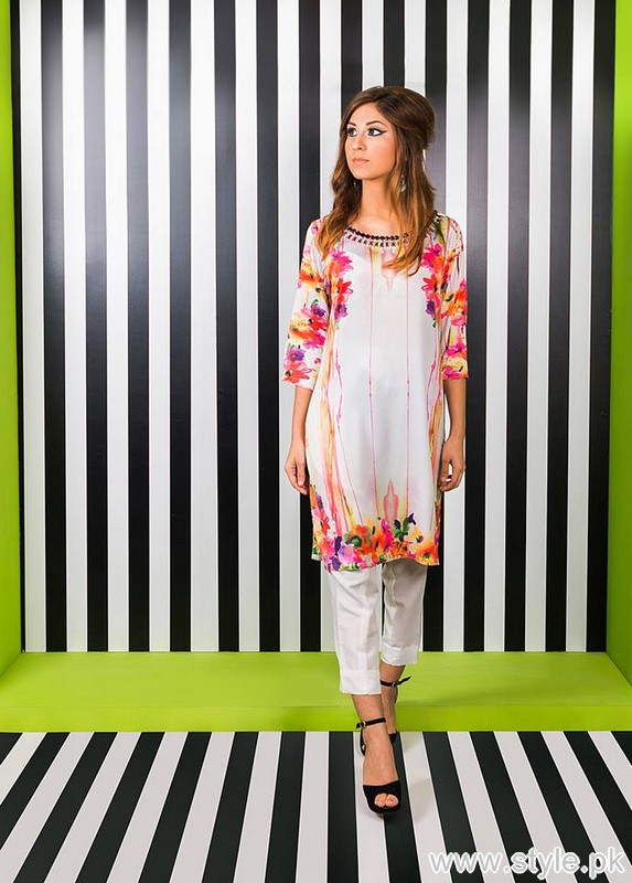 Zari Faisal Digital Silk Collection 2015 for Girls 8